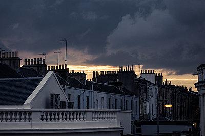 Wohnhäuser in Glasgow - p354m1215337 von Andreas Süss