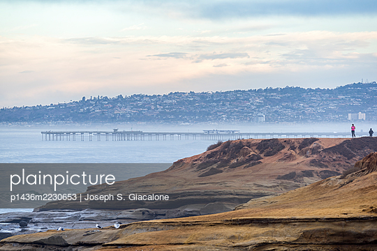 Winter morning at Sunset Cliffs Natural Park - p1436m2230653 by Joseph S. Giacalone