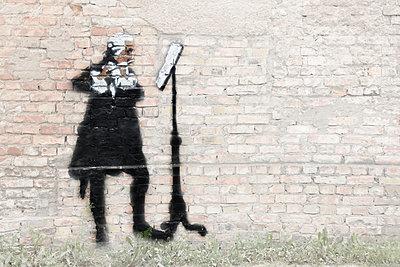 Flötenspieler Stencil - p089m933187 von Gerd Olma