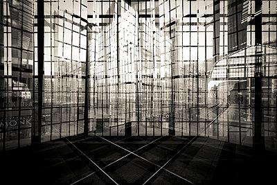 Reflection at train station - p1062m1172177 by Viviana Falcomer