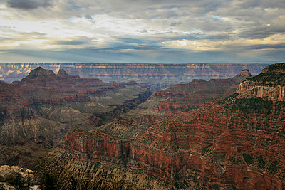 Grand Canyon, impressive rock formations, aerial view - p1480m2228752 by Brian W. Downs