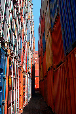 Container at a harbour - p7920031 by Nico Vincent