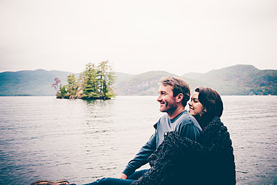 Lake George Fall Portraits - p1086m1488726 by Carrie Marie Burr