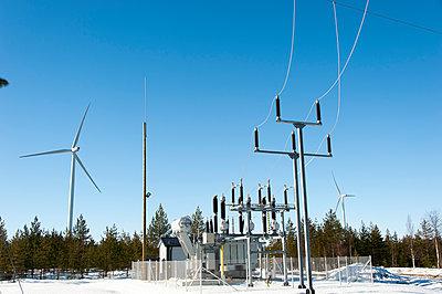 Transformer station of wind farm - p1079m1042402 by Ulrich Mertens