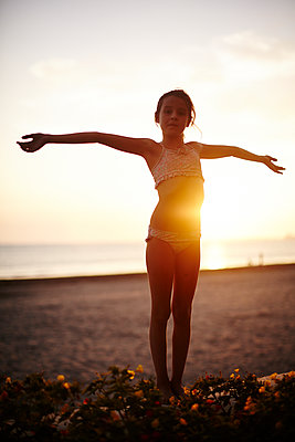 Girl in the sunset - p1430m1503571 by Charlotte Bresson