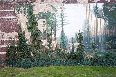 Mauerbild mit Efeu - p1079m1552898 von Ulrich Mertens