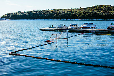 Beach ball field in the harbor of Vrsar - p728m2027208 by Peter Nitsch