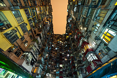 View of crowded residential buildings in Hong Kong - p623m2294907 by Pablo Camacho