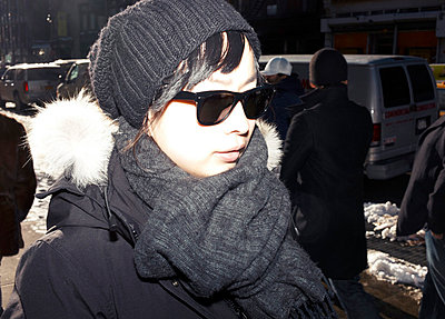 Woman in winter - p5840664 by ballyscanlon