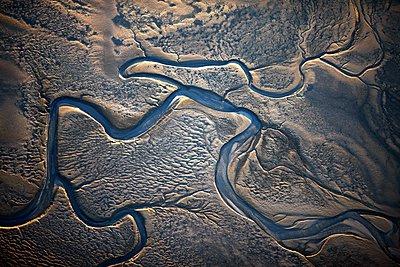 Priel im Wattenmeer (Nordsee) - p1258m1061390 von Peter Hamel