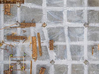 Construction site, Atlanta, Georgia, USA - p343m2025888 by Peter Essick