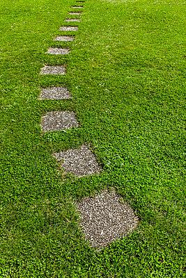 Wegplatten im Rasen - p248m1492289 von BY