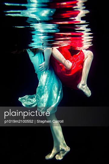 Sisters Underwater  - p1019m2100552 by Stephen Carroll