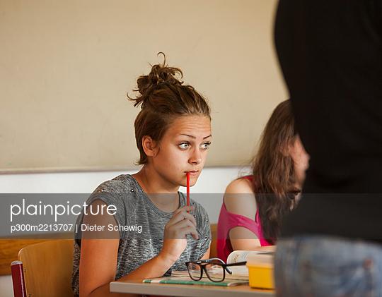 Austria, Students in class - p300m2213707 by Dieter Schewig