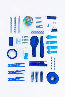 Collection of blue objects - p1149m1590487 by Yvonne Röder