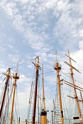 Historic Ship Masts, South Street Seaport, New York City - p5690123 by Jeff Spielman