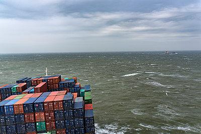 Frachtschiff - p915m2022166 von Michel Monteaux