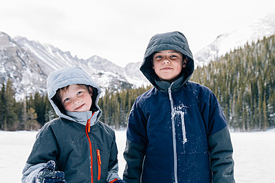 Children in Rocky Mountain National Park - p1262m1104809 by Maryanne Gobble