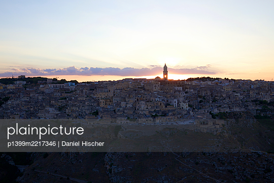 Italy, Matera at sunset - p1399m2217346 by Daniel Hischer