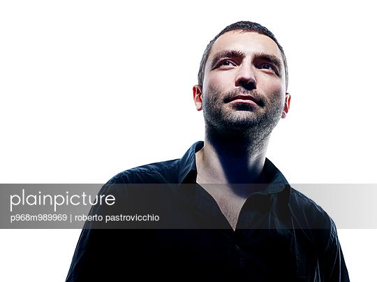 Mid adult man portrait - p968m989969 by Roberto Pastrovicchio