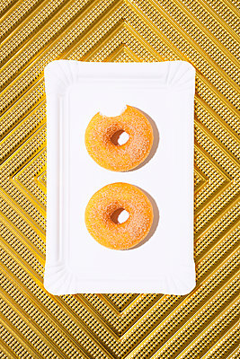 Two donuts - p1149m2284376 by Yvonne Röder