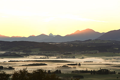 Germany, Bavaria, Allgaeu, sunrise - p300m2083185 by dl-photo