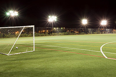 Football pitch - p9241991f by Image Source