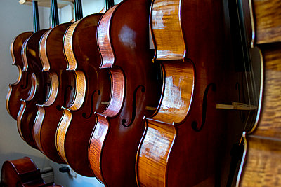 Celli beim Geigenbauer - p1212m1203241 von harry + lidy
