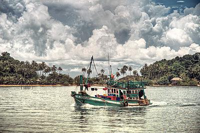 Fishing boat in Thailand - p1072m830394 by Joe Eitzen