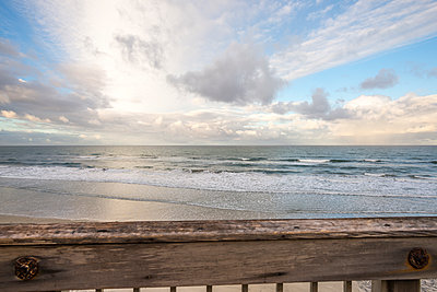 Ocean view from staircase above Seascape Surf Park - p1436m2071826 by Joseph S. Giacalone