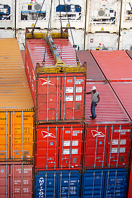 Loading containers on board - p1099m857146 by Sabine Vielmo