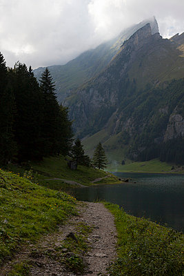 Mountain lake in Appenzell - p304m1050984 by R. Wolf