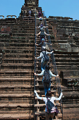 Climbing Angkor Wat - p1167m965862 by Maria Schiffer