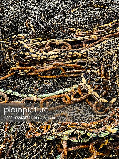 Fishing nets - p382m2283973 by Anna Matzen