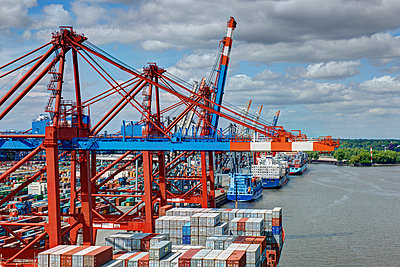 Container port Hamburg - p1099m882893 by Sabine Vielmo