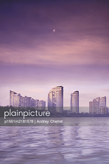 Sunrise magenta mood - p1561m2181578 by Andrey Cherlat