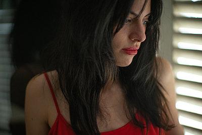 Portrait of a young melancholic woman - p1321m2207409 by Gordon Spooner