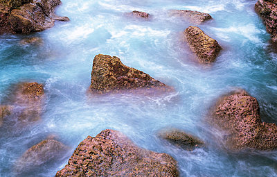 Rocks in the sea - p1436m1588853 by Joseph S. Giacalone