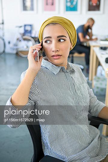 Junge Frau, Startup Unternehmen - p1156m1572829 von miep