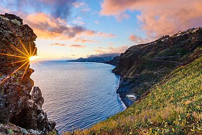 Sunset at coast - p312m1470281 by Mikael Svensson