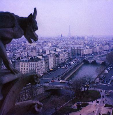 Chimäre am Turm von Notre Dame - p1270m1114437 von Nathalie Baetens