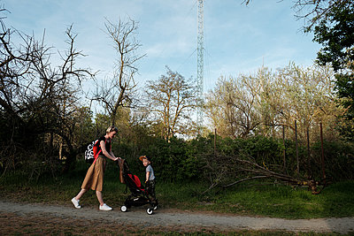 Woman and son in park - p1363m2134884 by Valery Skurydin