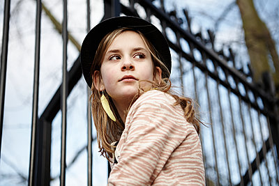 GIRL WITH HAT - p1430m1503577 by Charlotte Bresson