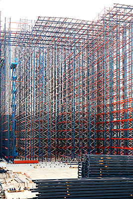 Constructing high rack storehouse - p719m1333198 by Rudi Sebastian