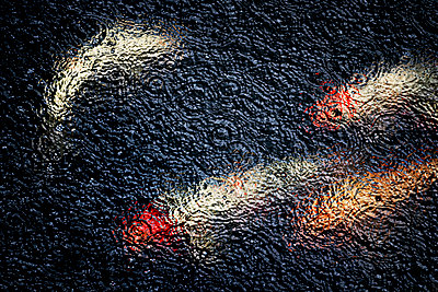 Koi im Regen - p1275m2210254 von cgimanufaktur