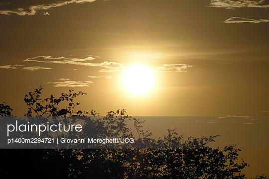 Etosha National Park, Sunset, Namibia - p1403m2294721 by Giovanni Mereghetti/UCG