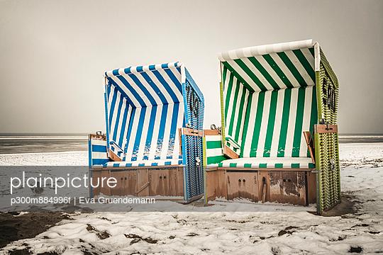 beach chairs at the beach of Langeoog