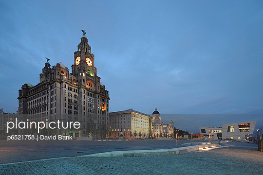 The Royal Liver Building is a Grade I listed building located in Liverpool, England - p6521758 by David Bank