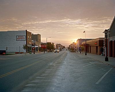 Sunrise on Main Street - p1415m2076772 by Sophie Barbasch