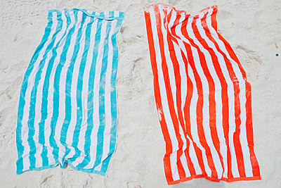 Striped Beach Towels - p1262m1584284 by Maryanne Gobble